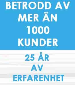 BETRODD AV MER ÄN 1000 KUNDER 25 ÅR AV ERFARENHET