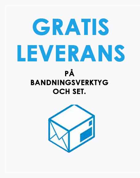 GRATIS LEVERANS på Bandningsverktyg och Set. prod