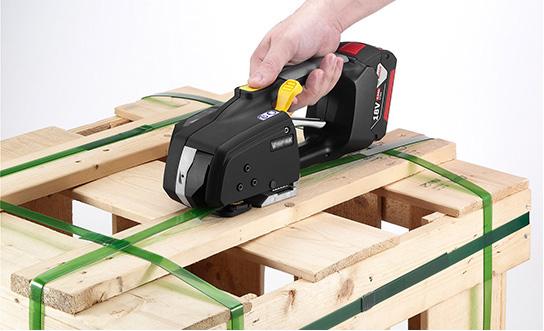 Messersi MB620 batteridrivet bandningsverktyg 12-16mm för PET och PP strap med  Batteri & Laddare 4