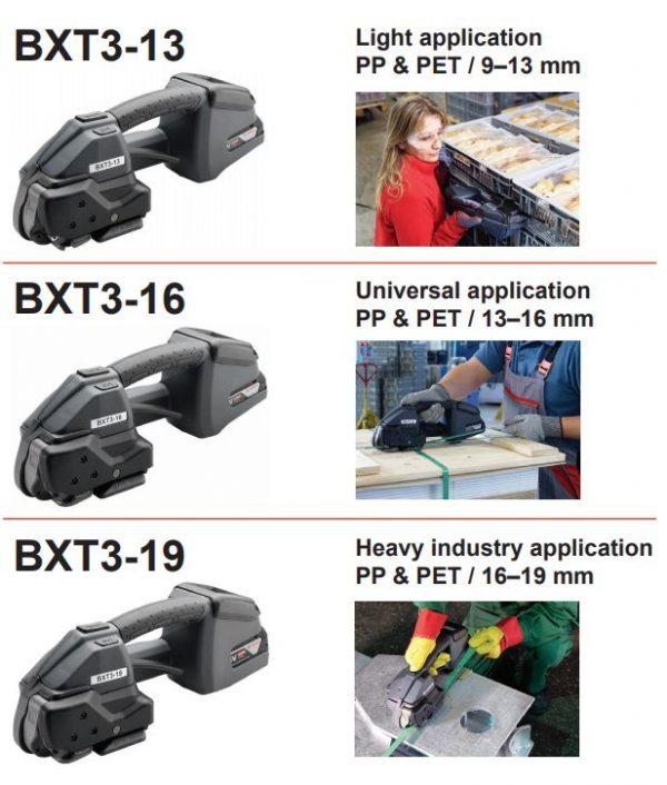 Signode-BXT3-bandningsmaskin-omfång