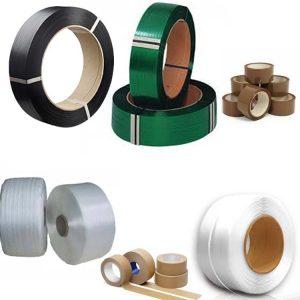 PET, PP, Plastband och tejp